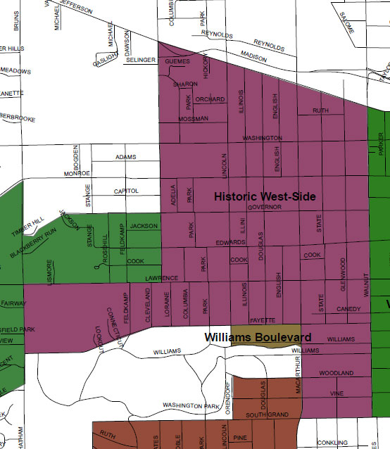 Historic West Side Neighborhood Association area map