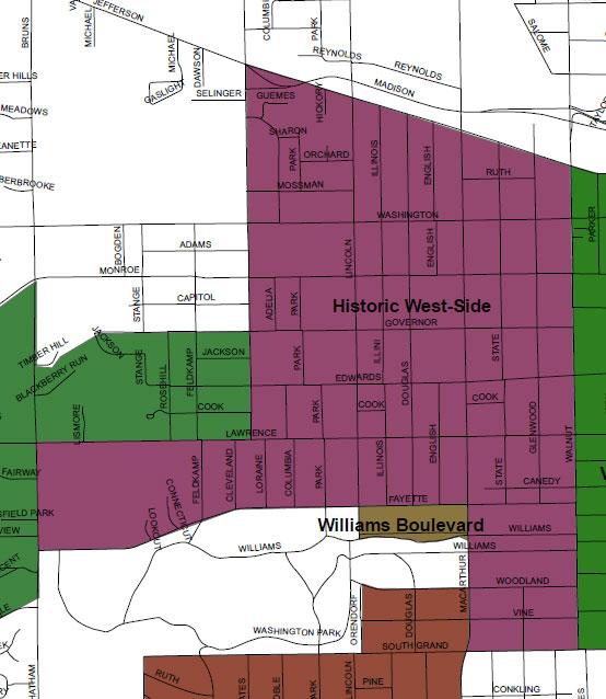 Historic West Side Neighborhood Association area map